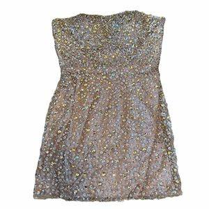 SHERRI HILL Jeweled Strapless Mini Dress Size 0